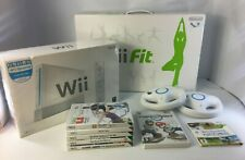 Wii Bundle: Console + Balance Board + x2 Wheels + x6 Games (inc Mario Kart)