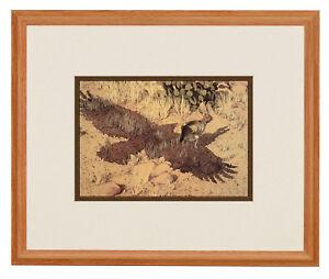BEV DOOLITTLE 'WSS' Escape by a Hare Matted & Framed Fine Art Print