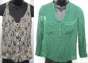 Clothing Lot Maeve Anthropologie Womens Shirts 2 Pieces Size 4 Tank Top Blouse