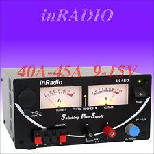 INRADIO IN-450 - SWITCHING POWER SUPPLY 40A/45A 9V - 13,8V - 15V for ICOM, YAESU