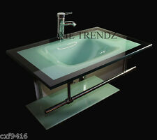 bathroom vanity furniture aqua green tempered glass bowl vessel sink faucet 29