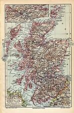 Antique map Scotland  landkaart Schotland 1906