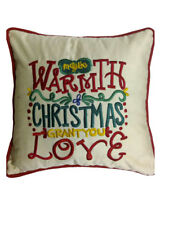 May the Warmth of Christmas grant you Love cushion cover