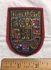 Belgique Belgie BELGIUM Belgian Provincial Lion Crest Coat of Arms Felt Patch