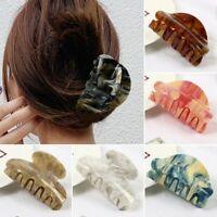 Women Girls Acrylic Hair Claw Crab Clamp Hair Clip Make Up Hair Styling Tool