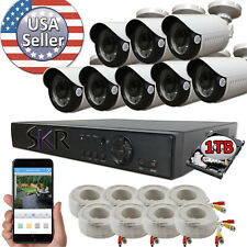 Sikker Standalone 8ch Channel DVR 2 Megapixel 1080P Camera Security System 1TB