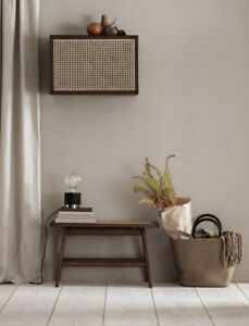 H&M Home Rattan Cane Bench Brown
