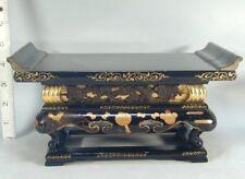 Buddhist #28 Japanese Wood Gold Kyozukue Table Stand Temple Altar Butsudan Japan
