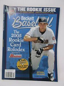Beckett Baseball Febraury 2006 Issue #251 The 2005 Rookie Card Rolodex