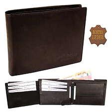 NEU Herren Geldbörse Geldbeutel Portemonnaie echt Leder Hochformat Querformat