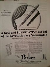 1937 Parker Speedline Vacumatic New Superlative Model Major Maxima Print Ad