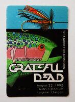 Grateful Dead Backstage Pass Fly Fishing Fish Oregon Autzen 8/22/93 8/22/1993 OR