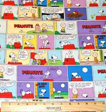 PEANUTS CLASSIC COMIC STRIP FABRIC! BY THE HALF YARD! SNOOPY~CHARLIE BROWN!