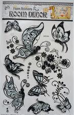 3 D Schmetterlinge & Wandtattoos Wanddeko Deko Aufkleber Sticker schwarz NEU