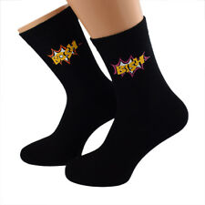 Cool Bish Bosh Design Mens Socks UK Size 5-12 - X6S157