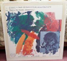 "1991 Rare Robert Rauschenberg Limited Edition Earth Summit Litho 26"" x 26"""