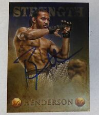 Benson Henderson Signed UFC 2013 Topps Finest Valor Strength Card #V-7 /188 Auto