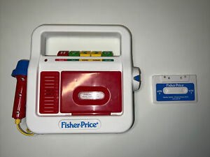 Mattel Fisher Price Play Cassette Player Recorder Childrens Toy #02178 2017
