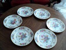 """6 Antique Bavaria Tirschenreuth Germany 10 3/4"""" Dinner Plate Dresden Decoration"""