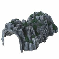 17.8cm Plastic Track Train Rockery Railway Tunnel Simulated Cave Scene Model Toy