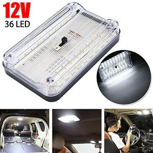 36LED White Reading Dome Light Caravan Interior Cabin Roof Lamp Auto Motorhome