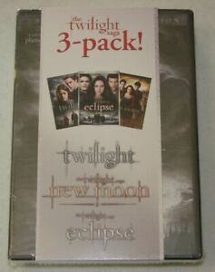 The Twilight Saga 3-Pack DVD Disc Set - Twilight, New Moon, Eclipse New Sealed