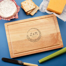 Personalised Initial Cutting Board - Wedding Anniversary Gifts For Him Her