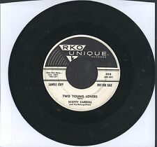 "SCOTTY CARROLL 45 7"" STRINGS OF MY HEART TEEN POPCORN PRIVATE NORTHERN Soul R&B"