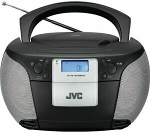 JVC RD-D220B BOOMBOX BLACK CD PLAYER FM RADIO MAINS OR BATTERY POWERED AUX IN