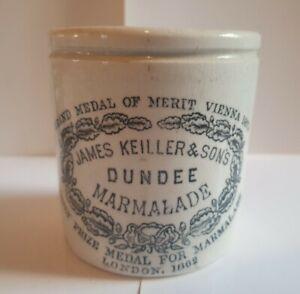 Superb dumpy James Keiller Dundee Marmalade Jar Pot