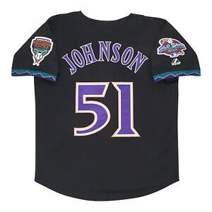 Randy Johnson Arizona Diamondbacks 2001 World Series Alt Black Jersey Men's XL