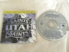 "Utah Saints PROMO 3trk DJ CD 'What Can You Do For Me' DEF MIX 7"" Mix Melodic Mix"