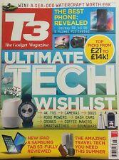 T3 The Gadget Magazine UK June 2017 Ultimate Tech Wishlist TV's FREE SHIPPING sb