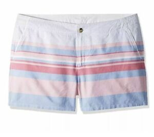 Columbia Women's Solar Fade Shorts, Lollipop Stripe, 12 x 4