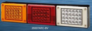 Pair 12/24V LED Jumbo Tail lights,Amber/Red/Clear,Truck,Bus,Trailer,Kenworth,Van