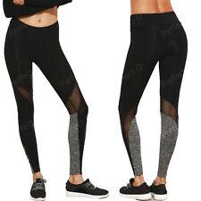 Capri Women's Sports Pants Gym Yoga Mesh Fitness Leotards Athletic Leggings UD