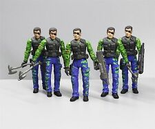LOT 5 UNIMAX TOYS BRAVO TEAM SECRET SOLDIERS FORCE Military ACTION FIGURE 3.75""
