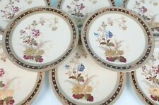 Set 8 Antique Limoges Aesthetic Flowers & Raised Gold Cabinet Plates French