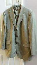 Brooks Brothers Men's Wool Blend Blazer  Beige Tan Size 43 Long Vintage 90's
