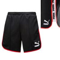 Puma Black Red Super Mens Polyester Training Gym Fitness Shorts 575219 01 UA91