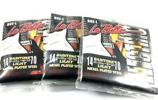 La Bella Guitar String Electric Baritone Light 3 Pack 14-70 Nickel Plated Steel