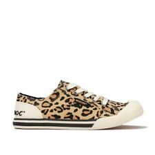 Women's Rocket Dog Jazzin Kenya Pump Trainers in Cream