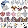 Rhinestone Crystal Animal Butterfly Flower Brooch Pin Women Bridal Jewelry Lot