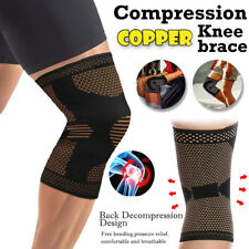 Knee Sleeve Compression Brace Copper Support For Sports Joint Pain Arthritis Fit