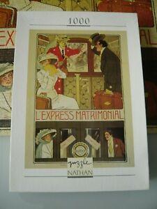 PUZZLE 1000 Pièces NATHAN  - COLLECTION AFFICHE  - OCCASION - Dim: 49 x 66,5 cm