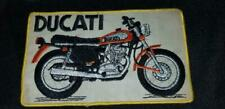 LARGE 1970'S VINTAGE DUCATI MOTORCYCLE BACK PATCH SIGN JACKET VEST CLUB BIKE