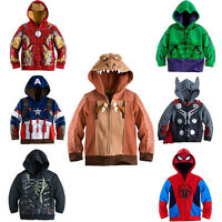 Warm Toddler Boys' Clothing Superhero Hoodie Hooded Jacket Jumper Sweatshirt NEW