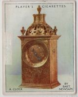 1590 Clock By Bartholomew Newsam Clockmaker To The Queen 1920s Ad Trade Card