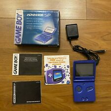 Nintendo Game Boy Advance SP Cobalt Blue In box works + Manuals + Charger READ!