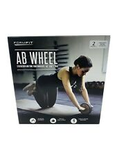 AB Wheel Roller Strengthen and Tone Your Abs Arms and Back Black